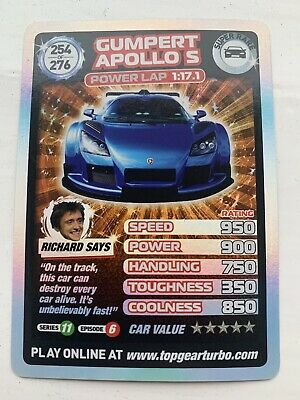 TOP GEAR Turbo Challenge SUPER RARE Card 254/276 • 30£