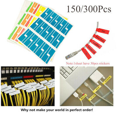 Self-adhesive Cable Labels Identification Markers Tags Sticker Waterproof • 9.40£
