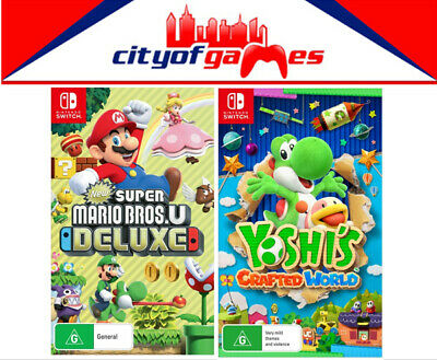 AU139.95 • Buy New Super Mario Bros. U Deluxe & Yoshi's Crafted World Bundle Switch In Stock