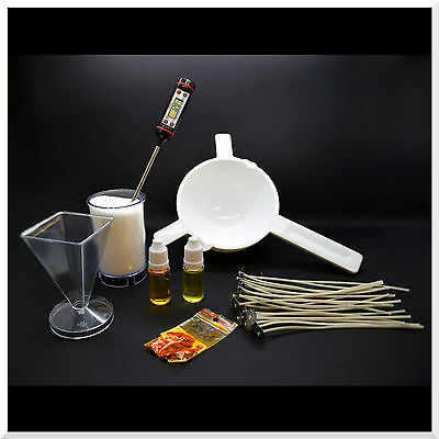 7 Pieces Complete Candle Making Kit Craft Accessory Set Starter Wicks Wax Bach • 31.88£