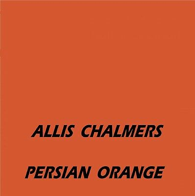 £16.45 • Buy ALLIS CHALMERS PERSIAN ORANGE Machinery Tractor Agricultural Enamel Gloss Paint