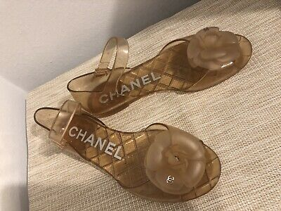 36096c949d9a Chanel Jelly Sandals Size 37 Camellia • 259.00