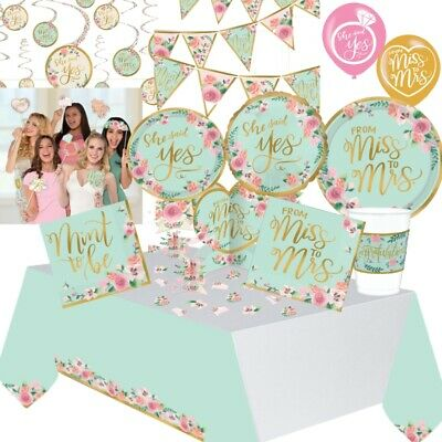 Bridal Shower Engagement Mint To Be Party Supplies Tableware Decorations Balloon • 7.99£