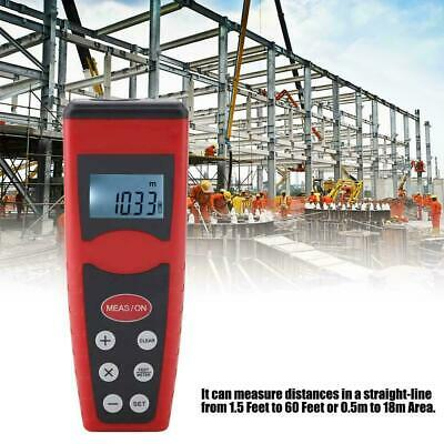 Digital LCD Ultrasonic Tape Laser Point Distance Measure Meter Range Measurer • 12.02£