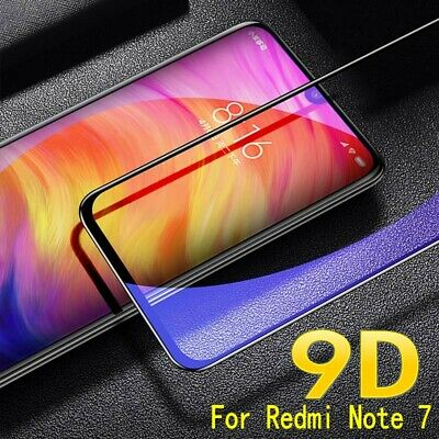 AU3.30 • Buy For Xiaomi Redmi Note 7 Full Cover 9D Curved Tempered Glass Screen Protector D6