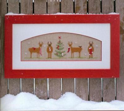 Christmas Gift Finished Cross Stitch Piece Xmas Tree Reindeer Socks Linen Gift • 25.29£