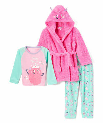 $14.44 • Buy Freestyle Revolution Girl Or Boy PJ Sleep Shirt, Pants & Plush Robe 3-Piece Set