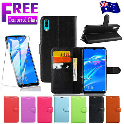 AU8.99 • Buy For Huawei Y7 Pro 2019 Wallet Leather Card Flip Case Cover + FREE Tempered Glass
