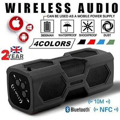 AU32.98 • Buy Portable 20W Wireless Bluetooth Speaker Stereo Bass Subwoofer TF NFC AUX 3600mAh
