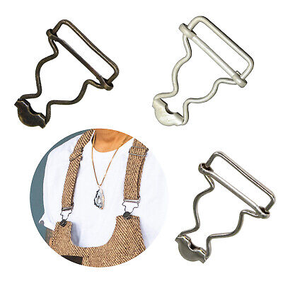 £2.69 • Buy 25mm 2/10pcs Metal Dungaree Buckles Sewing Clothing Suspender Clips DIY Crafts