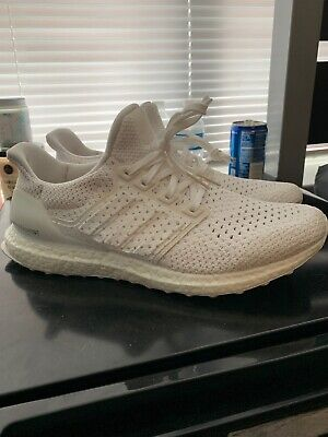 61124eb0f0268 Men s Adidas Ultra Boost CLIMA Running Shoes Total White Sz 11 • 119.99