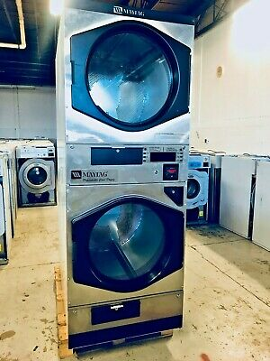 $2599 • Buy Coin Or Card Operated Commercial Maytag MLG32PD Stack Gas Dryer, 120V, Used