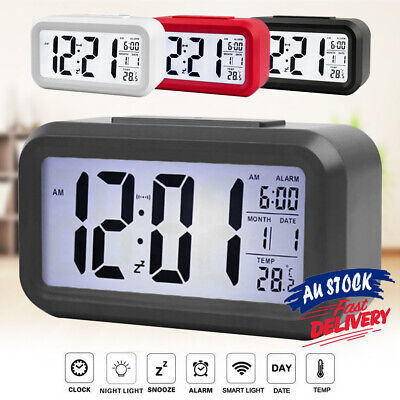 AU16.99 • Buy Led Electronic Alarm Clock IBQ& Calendar+Thermometer Backlight Time With Digital