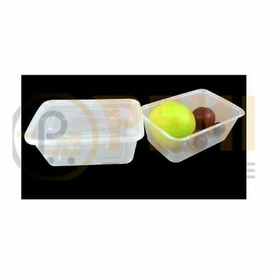 4 X 25 HEAVY DUTY PLASTIC FOOD GRADE STORAGE CONTAINERS + LIDS - 1000ml • 17.99£