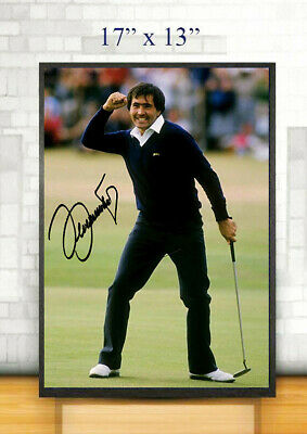 Seve Ballesteros Golf 17 X13  Framed Canvas Tribute Print Signed  Great Gift  • 34.99£