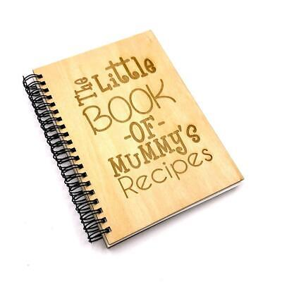 Personalised Recipe Book With Wooden Cover Engraved NB-3 • 10.99£