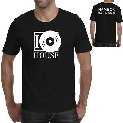 Vinyl Junkie I Love House Records Funny Printed T-Shirt-02 • 11.95£