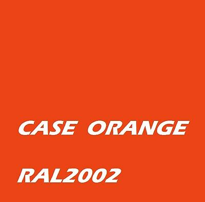 £16.45 • Buy CASE ORANGE RAL2002 Agricultural Machinery Enamel Gloss Paint Brush Or Spray
