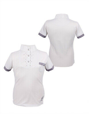 £24.95 • Buy QHP Junior Pearl Competition Shirt Dressage Jumping Show Top