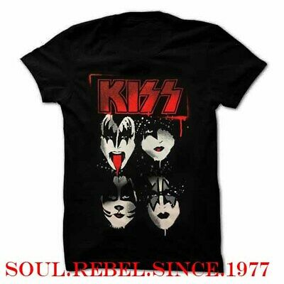 Kiss Old Logo The Classic Rock Band T Shirt Men's Sizes • 9.99$