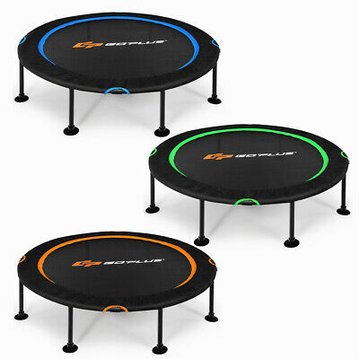 £49.99 • Buy 47'' Mini Trampoline Foldable Fitness Rebounder Safety Pads Durable Bungee Cords