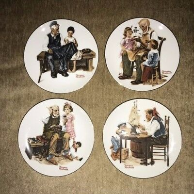 $ CDN18.77 • Buy Norman Rockwell Collector Plates - Set Of 4