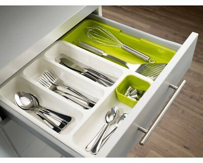 AU58.05 • Buy Joseph Expandable Cutlery Tray Kitchen Organizer Utensil Drawer Insert Green