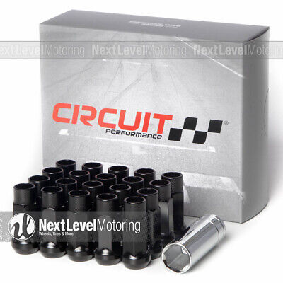 $31.99 • Buy Circuit Performance CP50 Extended Open End Lug Nuts 1/2  Black Fits Mustang GT