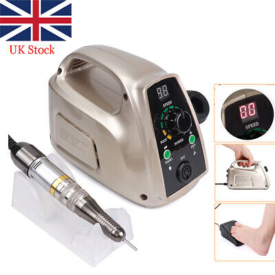 View Details Electric Nail Drill Manicure Machine Tools Strong Nail Art Equipment 65W 220V UK • 75.99£