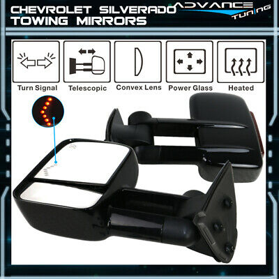 $151.99 • Buy For 03-07 Chevy Silverado Sierra Towing Mirrors Power Heated Signal Arrow Light