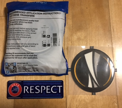 $22.50 • Buy Sporting ID Official UEFA Europa UEL League Patch Badge Respect Set 2015/19