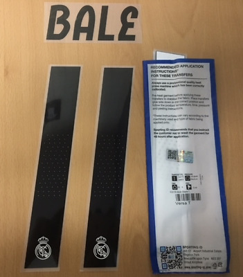$25 • Buy Sporting Id Official Adidas Real Madrid Home Nameset Print BALE 11 2018/19
