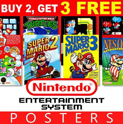 Nintendo NES Game Posters Collection, A4 A3 270gsm Posters Prints Art Wall • 4.99£
