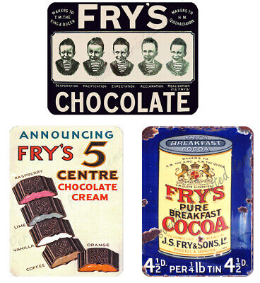£3.98 • Buy Frys Chocolate Vintage Retro Style Metal Signs Garage Advertisement Wall Plaque
