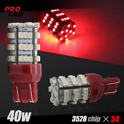 $6.40 • Buy 7443/7440 Red LED Brake Tail Stop Lights 54-SMD Chips