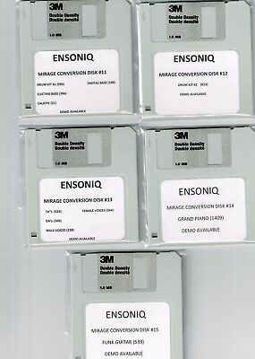 $50 • Buy Ensoniq Asr 10, Eps 16 Plus & Ts10 Mirage Conversion 10 Disk Set!! Set #2