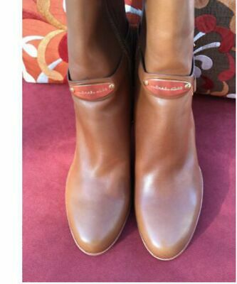 fbef3d9b74d1 Michael Kors Arley Luggage Leather Riding Boots Women Size 9 M • 259.99