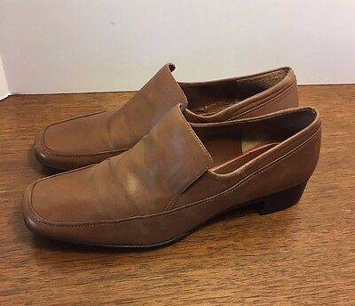 Rockport Brown Loafer Pumps Leather Womens Size 7 M Great Condition • 17.87£