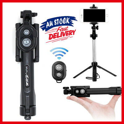 AU12.92 • Buy 3 In 1 Folding Tripod Bluetooth Mini Extendable Selfie Stick Wired Mobile Phone