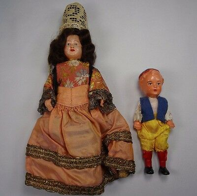 French Celluloid Doll And Boy Celluloid Doll Regional Costume  • 12.72£