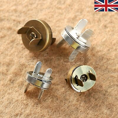 UK STOCK 10/50 Sets 14/18mm Magnetic Fastener Snaps Clasp Button For Purse Bag • 5.08£