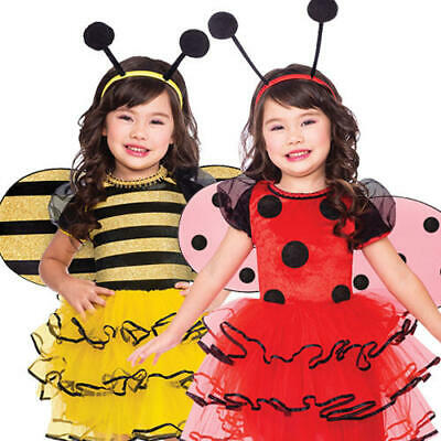 £10.99 • Buy Cute Bug Girls Fancy Dress Ladybird Bumble Bee Insect Kids Animal Costume Outfit