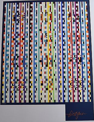 $1595 • Buy Yaacov Agam Agamograph Serigraph On Paper Kinetic Art, Abstract Large COA