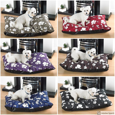 Large Dog Bed With Removable Zipped Poly Cotton Cover Pad Bed Mattress Cushion  • 7.99£