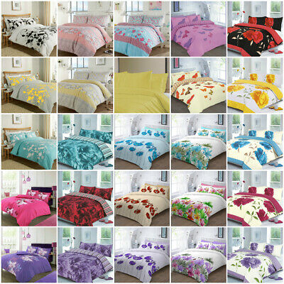 £14.95 • Buy Bedding Set With Duvet Cover Pillow Cases Quilt Cover Set Single Double King