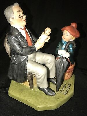 $19.99 • Buy  Norman Rockwell Porcelain Figurine  Doctor And The Doll   1980