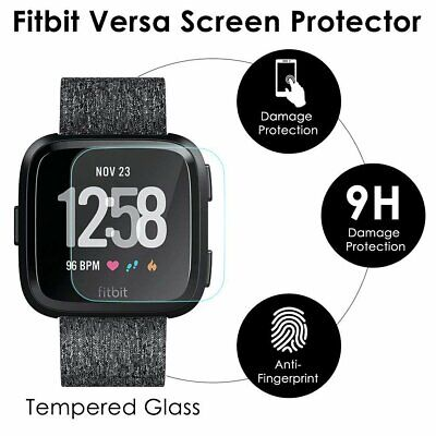 $ CDN4.01 • Buy For Fitbit Versa Tempered Glass Screen Protector Film Saver Shield Cover 2 Pack
