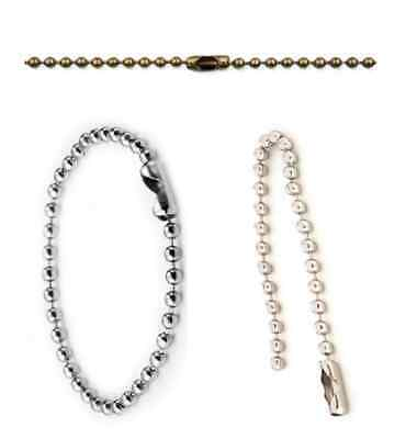 New Metal Ball Beaded Chain With Connector Clasp Mobile Phone Cord Tag KeyChain • 3.49£