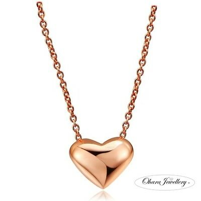 18K Rose Gold Plated Small Heart Chain Women Fashion Pendant Necklace Jewellery  • 5.99£