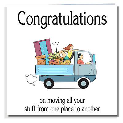 NEW HOME CARD Funny Congratulations Moving House Warming Neighbours Friend P05 • 2.99£